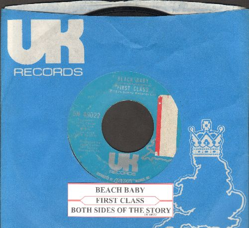 First Class - Beach Baby/Both Sides Of The Story (with juke box label and RARE UK company sleeve, sol) - EX8/ - 45 rpm Records