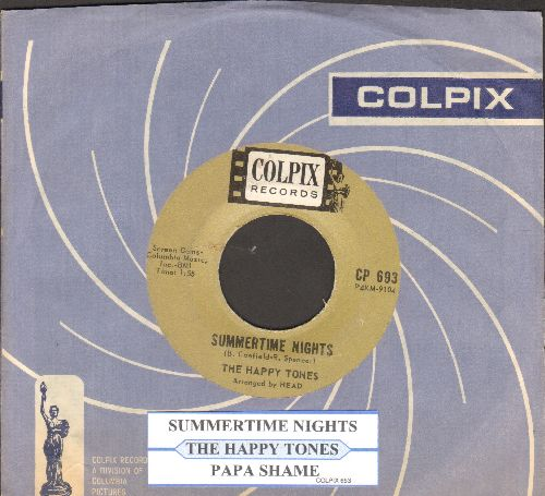 Happy Tones - Summertime Nights/Papa Shame (with juke box label and Colpix company sleeve) - EX8/ - 45 rpm Records