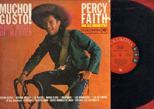 Faith, Percy & His Orchestra - Mucho Gusto! - More Music Of Mexico: Besame Mucho, Maria Elena, Perfidia, Cielito Lindo (Vinyl MONO LP record) - NM9/EX8 - LP Records