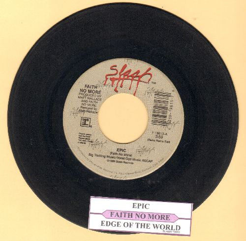 Faith No More - Epic/Edge Of The World (with juke box label) - VG7/ - 45 rpm Records