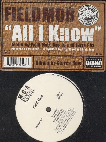 Field Mob - All I Know/Sick Of Being Lonely (Jazze Pha Remix)/Cut Loose (Vinyl Maxi Record) (SEALED) - M10/M10 - LP Records