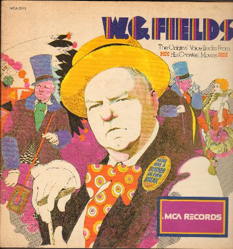 Fields, W. C. - W. C. Fields - The Original Voice Tracks From His Greatest Movies (vinyl LP record, gate-fold cover, 1980s issue of vintage recordings) - NM9/EX8 - LP Records