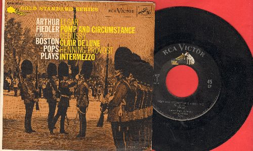 Fiedler, Arthur & Boston Pops - Pomp And Circumstance/Clair De Lune/Intermezzo (vinyl EP record with picture cover) - EX8/EX8 - 45 rpm Records