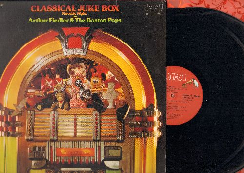 Fiedler, Athur & Boston Pops - Classical Juke Box Novelty Night: Syncopated Clock, Mosquito Dance, Toy Trumpet, Chicken Reel, The Typewriter, Sleigh Ride (2 vinyl STEREO LP records, Red Seal issue) - NM9/EX8 - LP Records