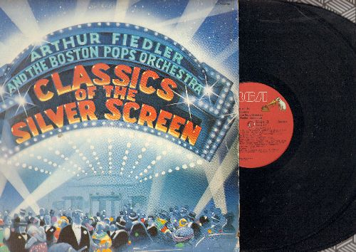 Fiedler, Arthur & The Boston Pops Orchestra - Classics Of The Silver Screen: Georgy Girl, More, Never On Sunday, Moon River, Lawrence Of Arabia (2 vinyl STEREO LP records) - NM9/VG7 - LP Records