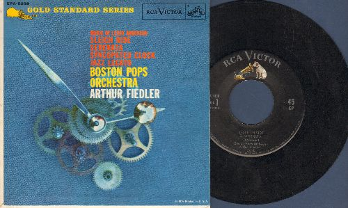 Boston Pops Orchestra, Arthur Fiedler - Sleigh Ride/Serenata/Syncopated Clock/Jazz Legato (vinyl EP record with picture cover) - EX8/NM9 - 45 rpm Records
