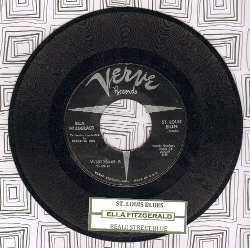Fitzgerald, Ella - St. Louis Blues/Beale Street Blues (with juke box label) - EX8/ - 45 rpm Records