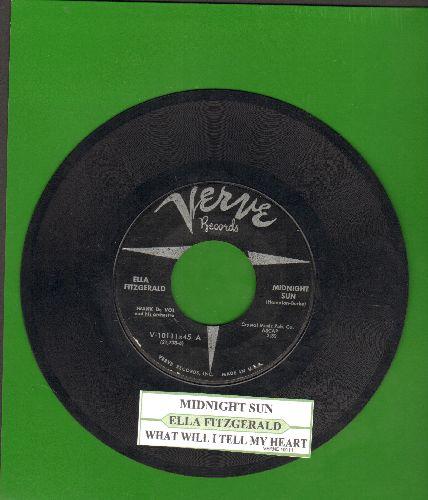 Fitzgerald, Ella - Midnight Sun/What Will I Tell My Heart (with juke box label) - EX8/ - 45 rpm Records