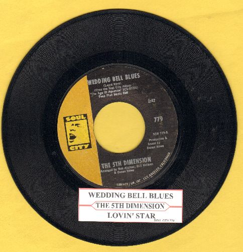 Fifth Dimension - Wedding Bell Blues/Lovin' Stew (with juke box label) - NM9/ - 45 rpm Records