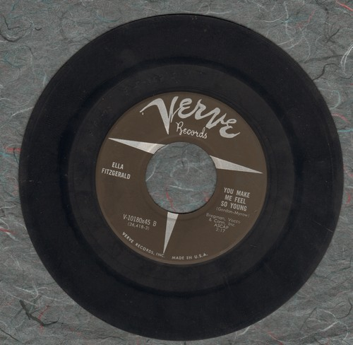 Fitzgerald, Ella - You Make Me Feel So Young/But Not For Me - VG7/ - 45 rpm Records