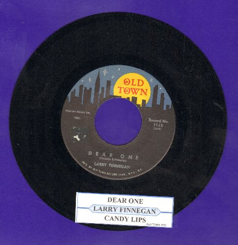 Finnegan, Larry - Dear One/Candy Lips (with juke box label) - NM9/ - 45 rpm Records