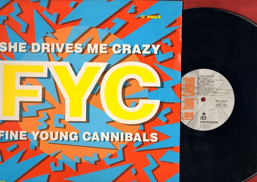 Fine Young Canibals - She Drives Me Crazy (12 inch vinyl Maxi Single featuring 4 different Extended Dance Club Versions, with picture cover) - NM9/EX8 - 45 rpm Records