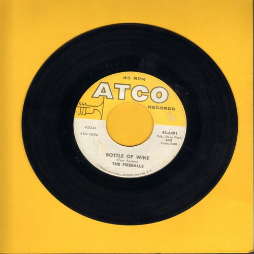 Fireballs - Bottle Of Wine/Can't You See I'm Tryin' (with juke box label) (bb) - NM9/ - 45 rpm Records