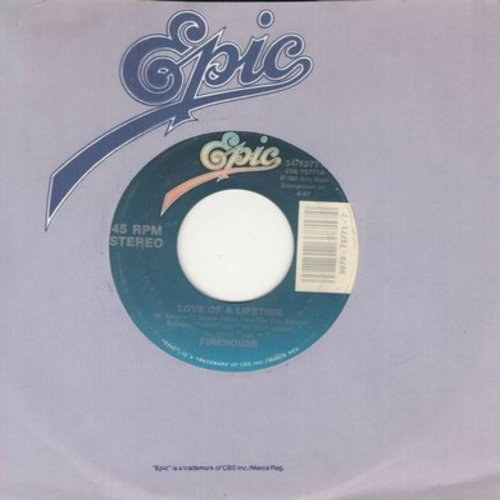 Firehouse - Love Of A Lifetime/I Live My Life For You  - M10/ - 45 rpm Records