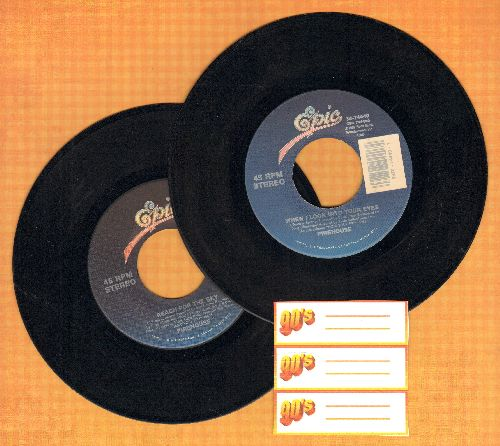 Firehouse - 2 for 1 Special: When I Look Into Your Eyes (WEDDING FAVORITE!)/Reach For The Sky(2 vintage first issue 45rpm records for the price of 1!) - EX8/ - 45 rpm Records