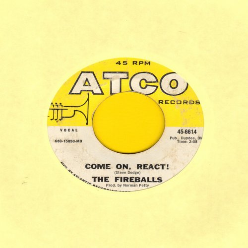Fireballs - Come On, React!/Woman, Help Me! - EX8/ - 45 rpm Records