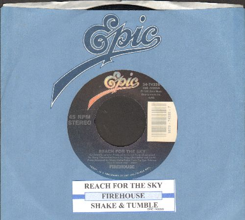 Firehouse - Reach For The Sky/Shake & Tumble (with juke box label and Epic company sleeve) - VG7/ - 45 rpm Records