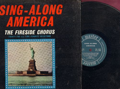 Fireside Chorus - Sing-Along America: Old MacDonald, Bill Bailey, Clementine, America The Beautiful, Home On The Range (vinyl LP record) - EX8/EX8 - LP Records