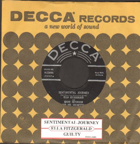 Fitzgerald, Ella - Sentimental Journey/Guilty (with juke box label and vintage Decca company sleeve) - VG7/ - 45 rpm Records