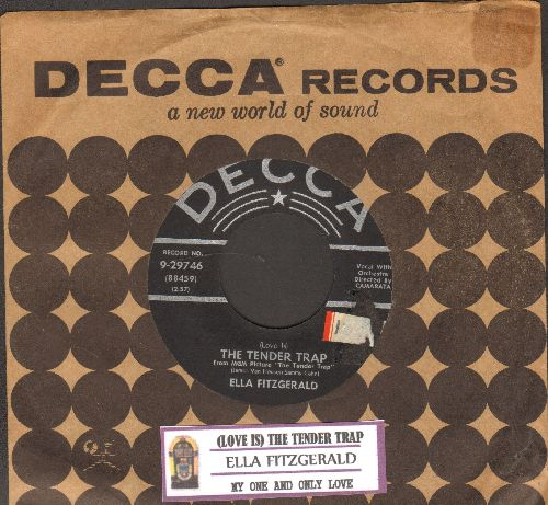 Fitzgerald, Ella - (Love Is) The Tender Trap/My One And Only Love (with juke box label and vintage Decca company sleeve) - VG7/ - 45 rpm Records