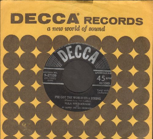 Fitzgerald, Ella - I've Got The World On A String/Peas And Rice (with vintage Decca company sleeve) - EX8/ - 45 rpm Records