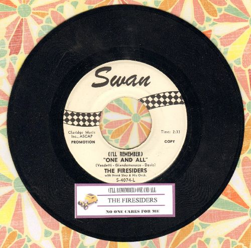 Firesiders - (I'll Remember) One And All/No One Cares For Me (RARE Vintage Soul 2-sider, DJ advance pressing with juke box label) - NM9/ - 45 rpm Records