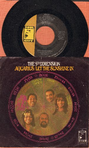 Fifth Dimension - Aquarius/Let The Sunshine In/Don'tcha Hear Me Callin' Ya  - NM9/EX8 - 45 rpm Records