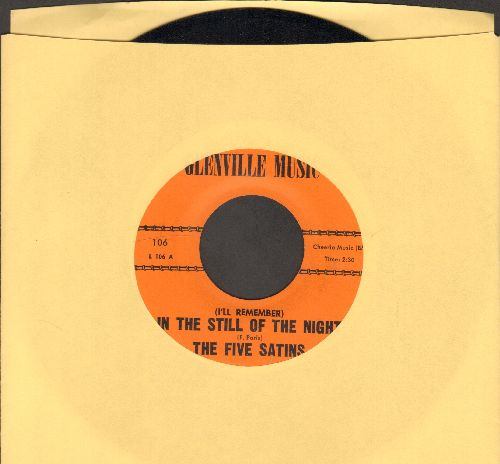 Five Satins - In The Still Of The Night/The Jones Girl (early re-issue) - NM9/ - 45 rpm Records