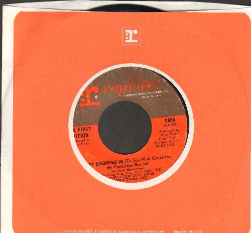 First Edition - Just Dropped In (To See What Condition My Condition Was In)/Shadow In The Corner Of Your Mind (with vintage Reprise company sleeve) - EX8/ - 45 rpm Records