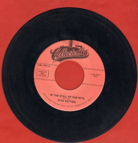 Five Satins - In The Still Of The Night/The Jones Girl (re-issue) - NM9/ - 45 rpm Records