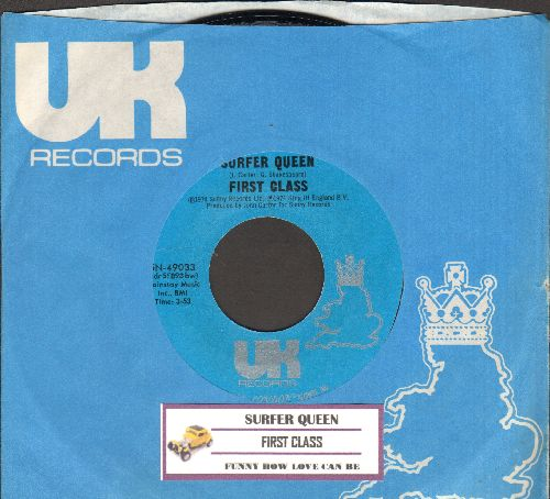 First Class - Surfer Queen/Funny How Love Can Be (with UK company sleeve and juke box label) - NM9/ - 45 rpm Records
