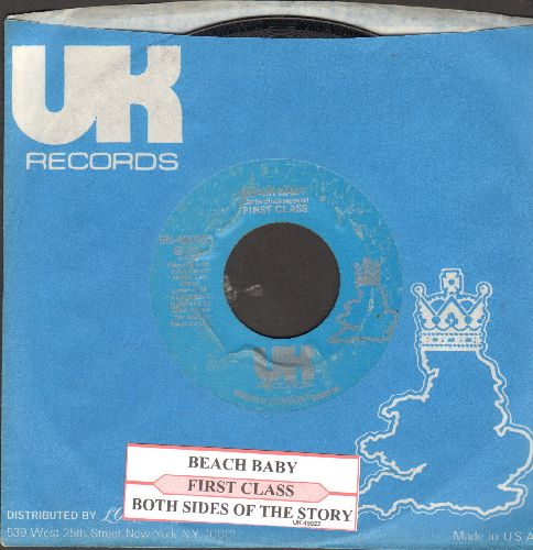 First Class - Beach Baby/Both Sides Of The Story (with juke box label and UK company sleeve) - EX8/ - 45 rpm Records