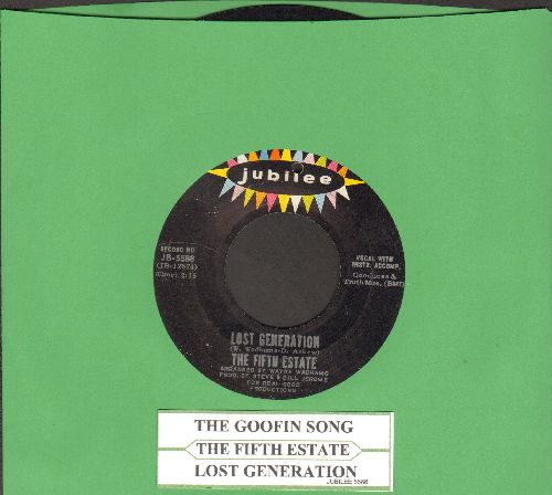 Fifth Estate - The Goofin Song/Lost Generation (bb) - VG7/ - 45 rpm Records