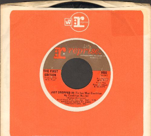 First Edition - Just Dropped In (To See What Condition My Condition Was In)/Shadow In The Corner Of Your Mind (with Reprise company sleeve) - EX8/ - 45 rpm Records
