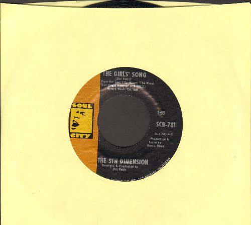 Fifth Dimension - The Girls Song/I'll Never Be The Same Ahain - NM9/ - 45 rpm Records