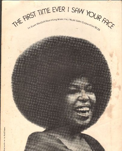 Flack, Roberta - The First Time Ever I Saw Your Face - SHEET MUSIC for the Classic Roberta Flack Love Ballad. - VG7/ - Sheet Music