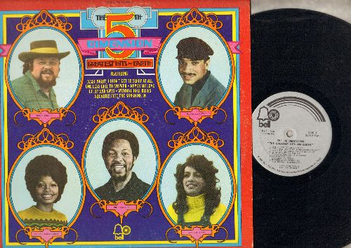 Fifth Dimension - Greatest Hits On Earth: Wedding Bell Blues, Aquarius/Let The Sunshine In, Up Up And Away, Never My Love, Puppet Man (Vinyl STEREO LP record) - EX8/NM9 - LP Records