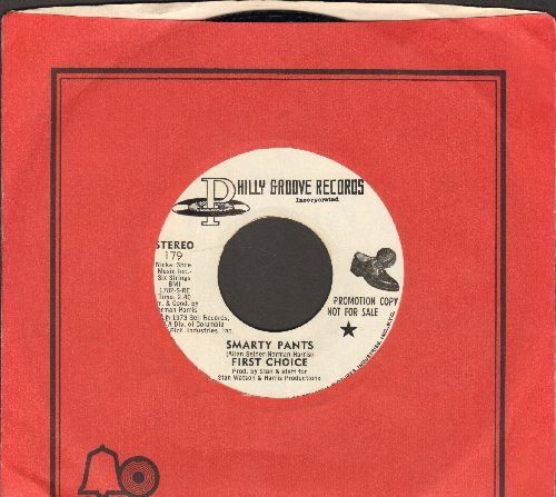 First Choice - Smarty Pants (double-A-sided DJ advance pressing with MONO and STEREO version, with Bell company sleeve) - NM9/ - 45 rpm Records