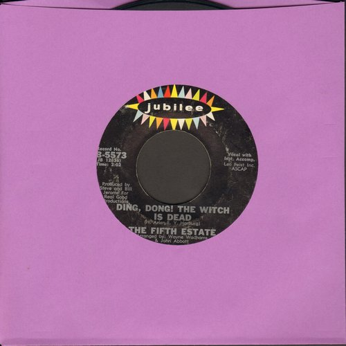 Fifth Estate - Ding Dong! The Witch Is Dead/The Rub-A-Dub  - EX8/ - 45 rpm Records