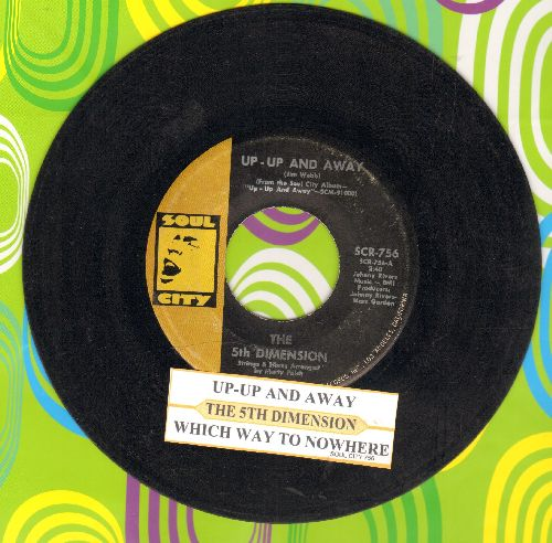 Fifth Dimension - Up - Up And Away/Which Way To Nowhere (with juke box label) - VG7/ - 45 rpm Records