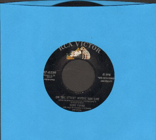 Fisher, Eddie - On The Street Where You Live/Sweet Heartaches - VG7/ - 45 rpm Records
