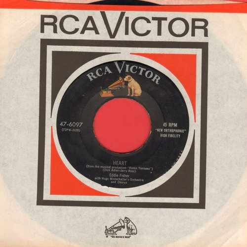 Fisher, Eddie - Heart/Near To You (both songs from Broadway Production -Damn Yankees-) (with vintage RCA company sleeve) - EX8/ - 45 rpm Records