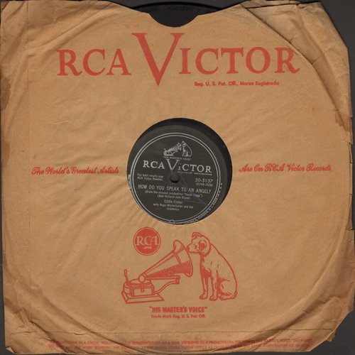 Fisher, Eddie - How Do You Speak To An Angel?/Downhearted (10 inch 78rpm record with RCA company sleeve) - VG7/ - 78 rpm