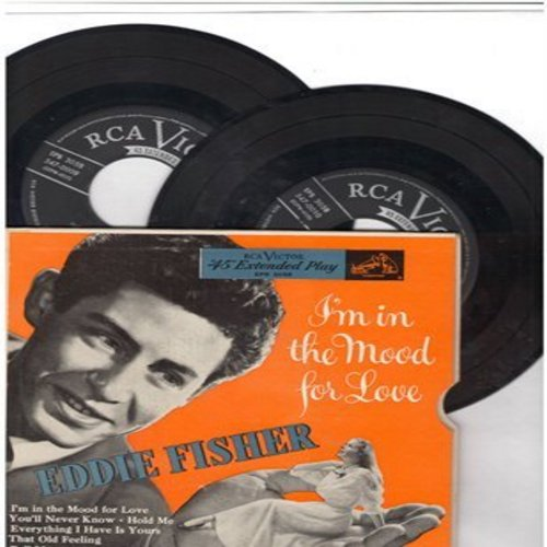 Fisher, Eddie - I'm In The Mood For Love: You'll Never Know/I've Got You Under My Skin/Hold Me + 5 (2 vinyl EP record in gate-fold picture cover) - NM9/EX8 - 45 rpm Records