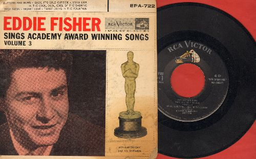 Fisher, Eddie - Eddie Fisher Sings Academy Award Winning Songs Vol.3: Buttons And Bows/Baby It's Cold Outside/Mona Lisa/Secret Love/High Noon + 2 (vinyl EP record with picture cover) - VG7/VG7 - 45 rpm Records