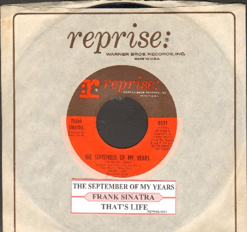 Sinatra, Frank - That's Life/The September Of My Years (with juke box label and Reprise company sleeve) - NM9/ - 45 rpm Records
