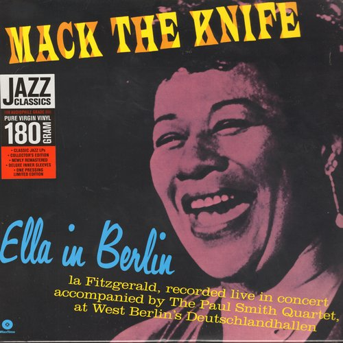 Fitzgerald, Ella - Mack The Knife - Ella In Berlin: Gone With The Wind, The Lady Is A Tramp, Summertime, Too Darn Hot (Pure 180 Gram Virgin Vinyl re-issue, SEALED, never opened! - SEALED/SEALED - LP Records