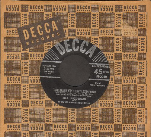 Fitzgerald, Ella - There Never Was A Baby Like My Baby/Give A Little-Get A Little (with vintage Decca company sleeve) - EX8/ - 45 rpm Records