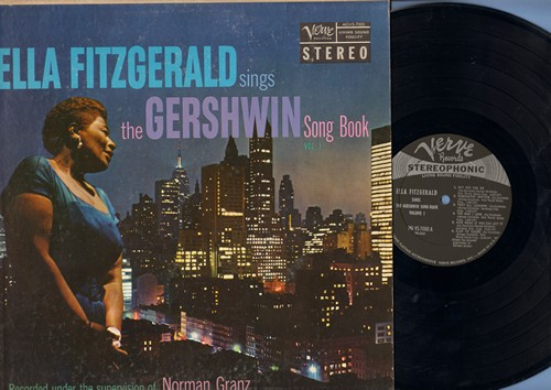 Fitzgerald, Ella - Ella Fitzgerald Sings The Gershwin Song Book Vol. 1: Fascinatin' Rhythm, The Man I Love, Nice Work If You can Get It, Let's Call The Whole Thing Off, Love Is Here To Stay (Vinyl STEREO LP record) - EX8/G5 - LP Records