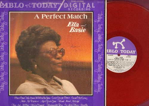Fitzgerald, Ella & Count Basie - A Perfect Match: Please Don't Talk About Me When I'm Gone, Sweet Georgia Brown, St. Louis Blues (RED VINYL pressing vinyl LP record) - NM9/VG7 - LP Records